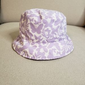 Baby Girl Purple Butterfly Bucket Hat